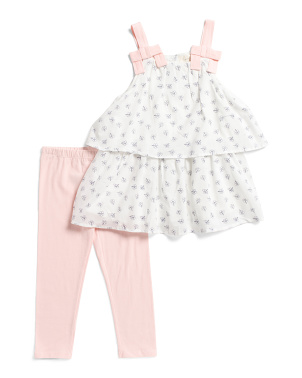 Little Girls 2pc Floral Legging Set