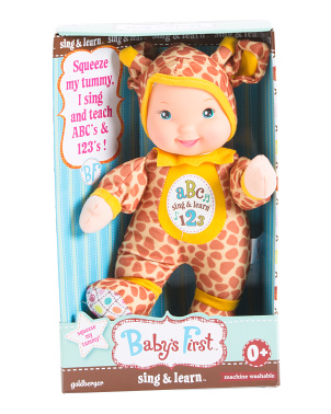 Sing N Learn Animal Baby Doll