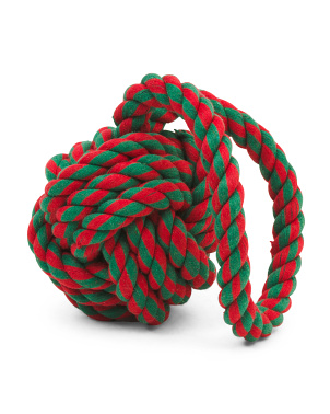 6in Holiday Knot Dog Toy