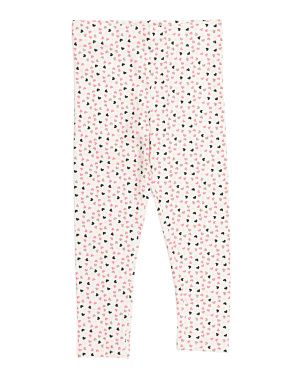 Girls Allover Heart Leggings