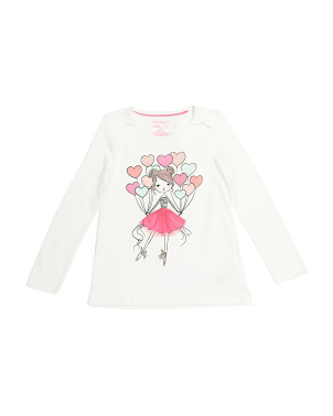 Girls Ballerina Balloon Top