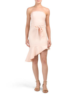 Juniors Australian Designed Strapless Mini Dress