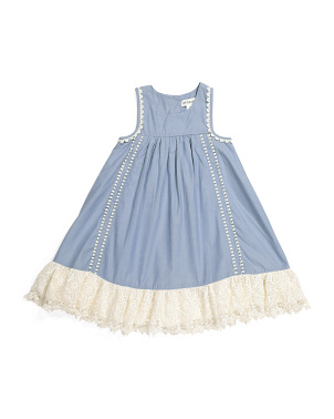 Toddler Girls Lace Ruffle Hem Tunic