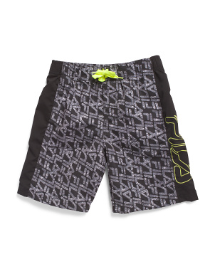 Big Boys Printed Swim Board Shorts