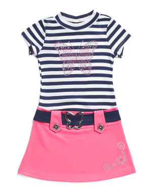 Little Girls Studded Butterfly Marcia Dress