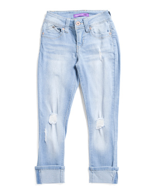 Big Girls Two Way Destructed Skinny Jeans