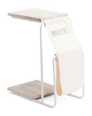 C Table With Magazine Holder