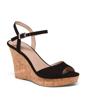 Ankle Strap Cork Wedges