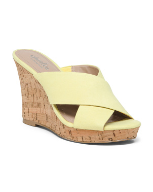 Crossband Cork Wedges
