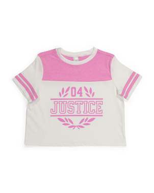 Big Girls Color Block Logo Top