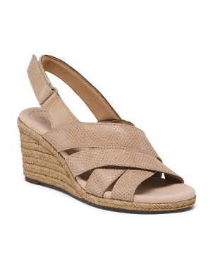Suede Espadrille Comfort Wedge Sandals