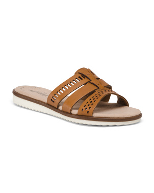 Sport Bottom Leather Comfort Slide Sandals