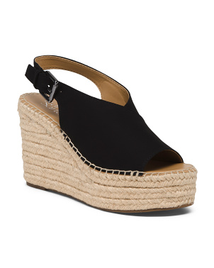 Peep Toe Espadrille Wedge Sandals