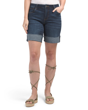 Catherine Denim Bermuda Shorts