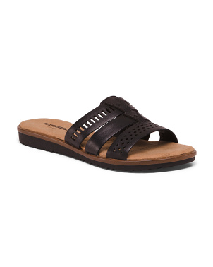 Comfort Slide Leather Sandals