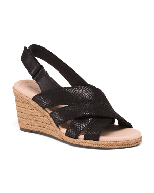 Espadrille Comfort Leather Wedges
