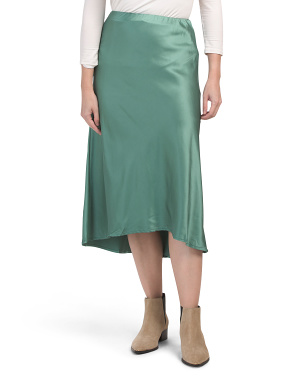 Juniors Australia Designed  Midi Satin Skirt