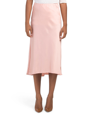 Juniors Australian Designed Midi Satin Skirt