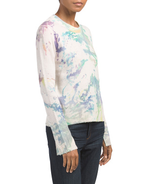 Delly Splash Print Cashmere Sweater