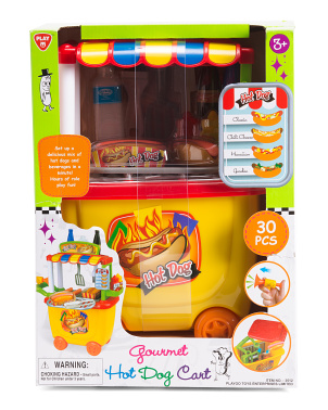 30pc Hot Dog Cart Gourmet Play Set