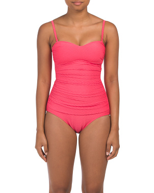 Ribbons Upf 50 Tummy Control Swimsuit