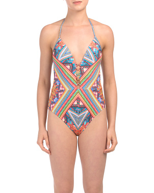 Arabesque Tummy Toner Push Up Mio One-piece Swimsuit