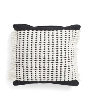 22x22 Chunky Yarn Woven Textured Pillow