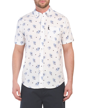 Short Sleeve Palms Dot Print Shirt