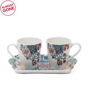 Strawberry Thief Mug & Tray Set