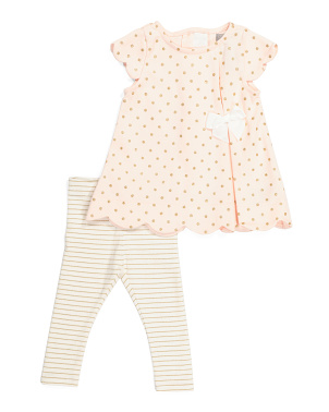 Infant Girls Scalloped Tunic Set