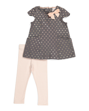 Infant Girls 2pc Scalloped Tunic Set