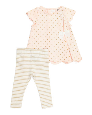 Baby Girls Scalloped Tunic Set