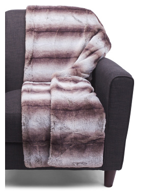 Damson Faux Fur Throw In Gift Box