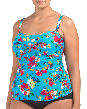Spring Floral Bandini Top