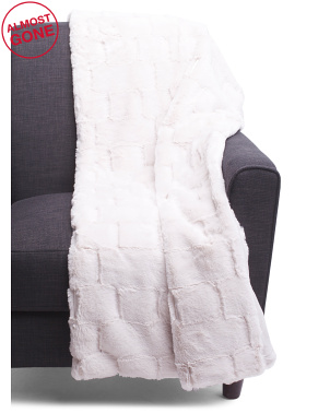 Brix Faux Fur Throw