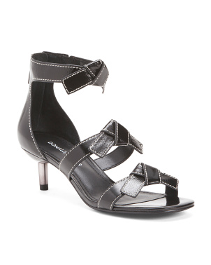 Multi Bow Leather Sandals