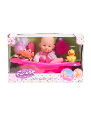 12in All About Bathing Baby Doll Play Set