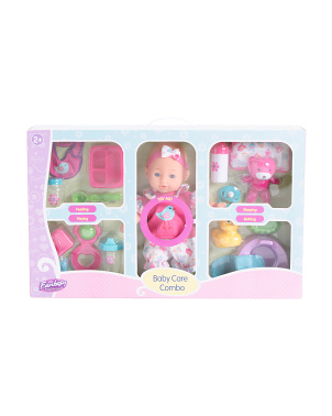 12in Baby Doll Care Combo Set