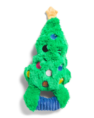 Squeeze Ems Holiday Tree Dog Toy
