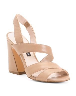 Strappy Flare Heel Sandals