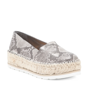 White Bottom Slip-on Espadrilles