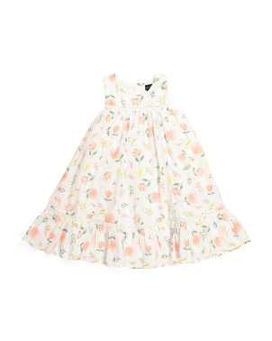 Toddler Girls Floral Lace Dress