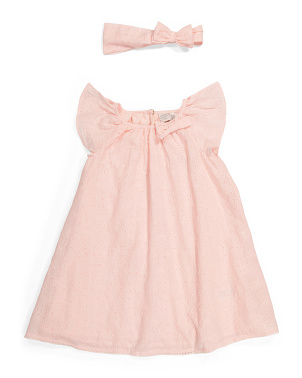 Toddler Girls Cotton Eyelet Dress