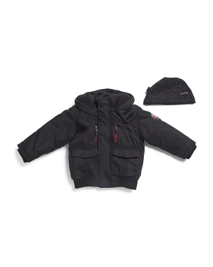 Toddler Boys Parka Bomber Jacket