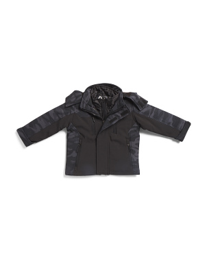 Toddler Boys Soft Shell System Jacket With Hood