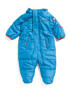 Newborn Boys Puffer Pram Snowsuit