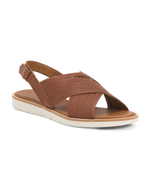 Leather Cross Band Sandals