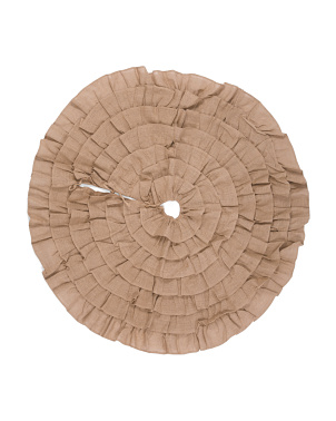 Ruffle Burlap Tree Skirt