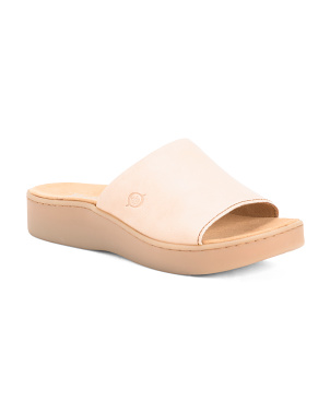 Leather Comfort Slip On Sandals