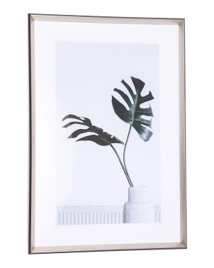 24x36 Palm Leaves In A Vase Framed Wall Art